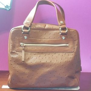 Kate Spade leather faux ostrich embossed hand bag
